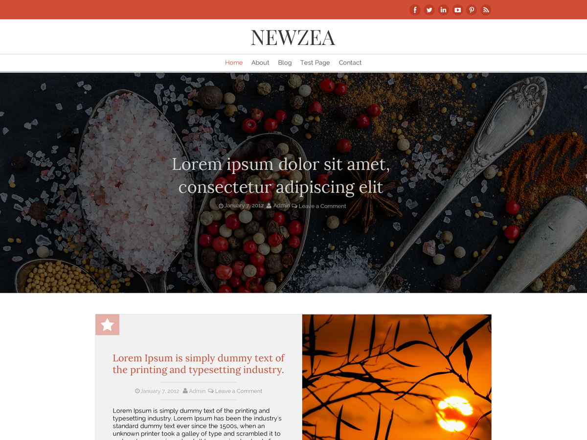 New Zea Preview Wordpress Theme - Rating, Reviews, Preview, Demo & Download