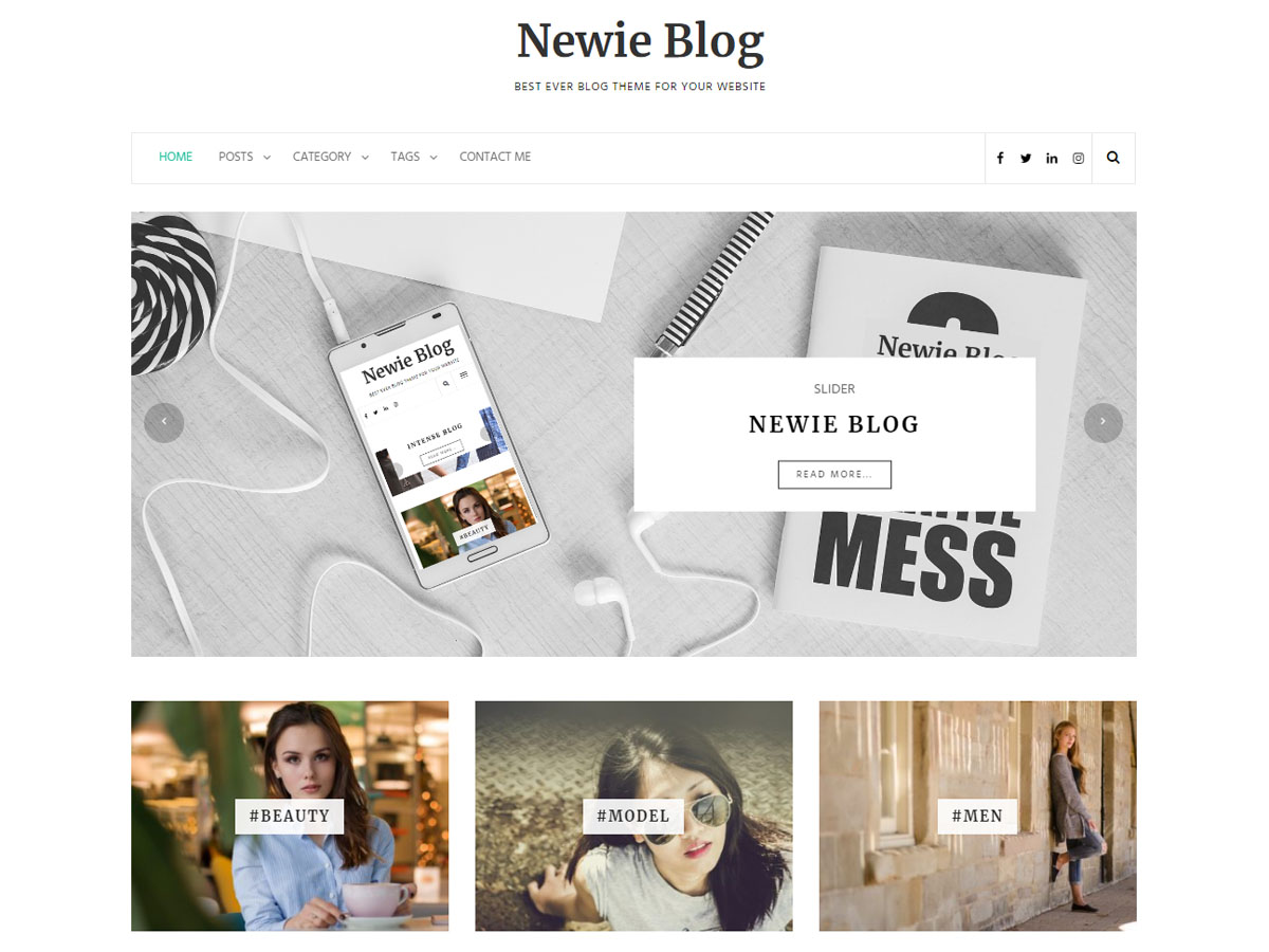 Newie Preview Wordpress Theme - Rating, Reviews, Preview, Demo & Download