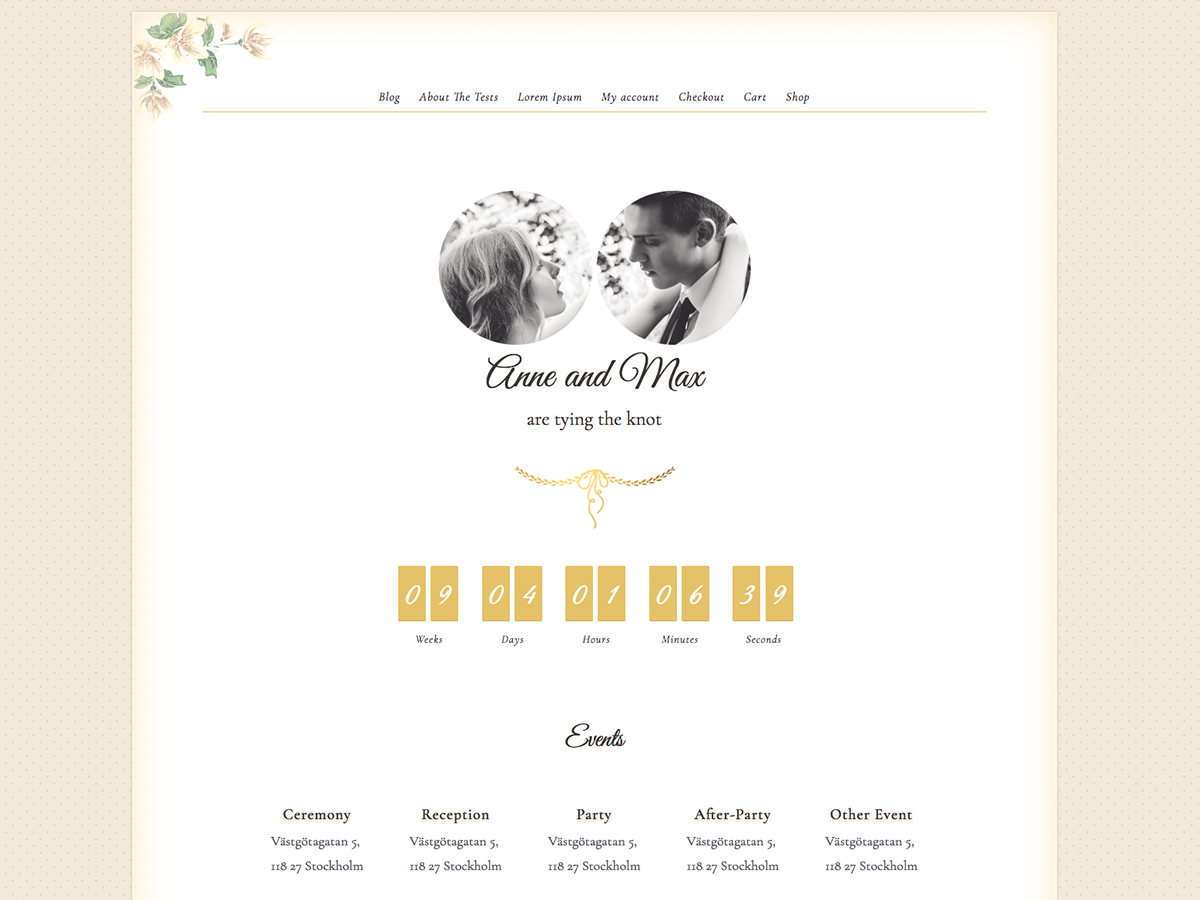 Newlyweds Preview Wordpress Theme - Rating, Reviews, Preview, Demo & Download