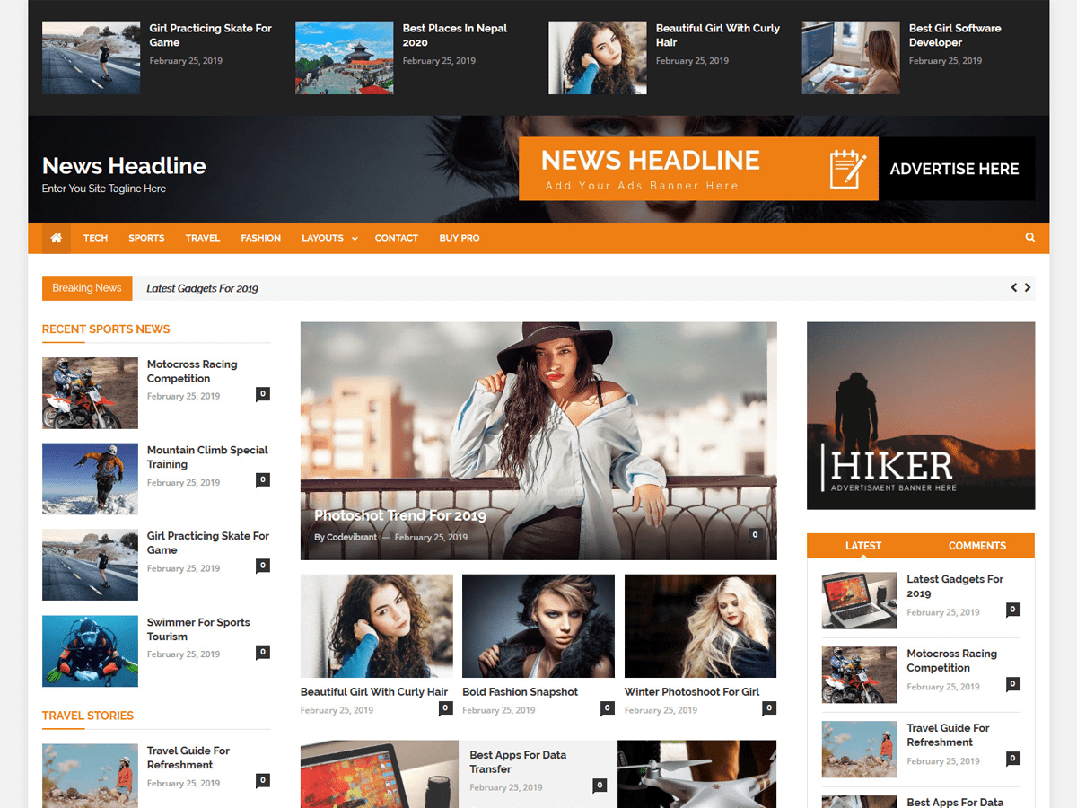 News Headline Preview Wordpress Theme - Rating, Reviews, Preview, Demo & Download