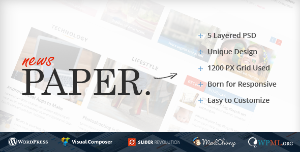 News Paper Preview Wordpress Theme - Rating, Reviews, Preview, Demo & Download