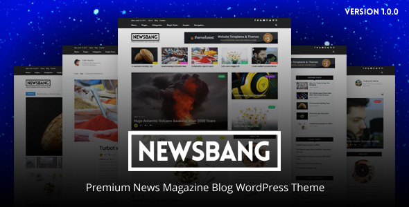 Newsbang Preview Wordpress Theme - Rating, Reviews, Preview, Demo & Download