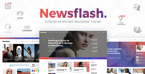 Newsflash Preview Wordpress Theme - Rating, Reviews, Preview, Demo & Download