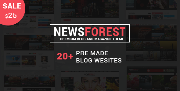 NewsForest Preview Wordpress Theme - Rating, Reviews, Preview, Demo & Download
