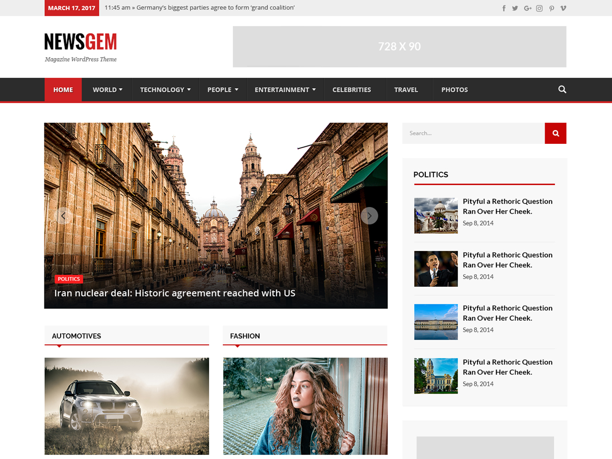 Newsgem Preview Wordpress Theme - Rating, Reviews, Preview, Demo & Download