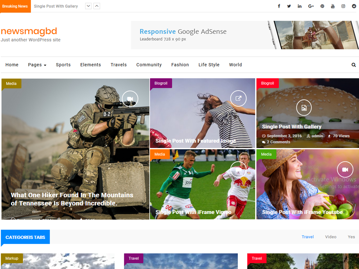 NewsMagbd Preview Wordpress Theme - Rating, Reviews, Preview, Demo & Download