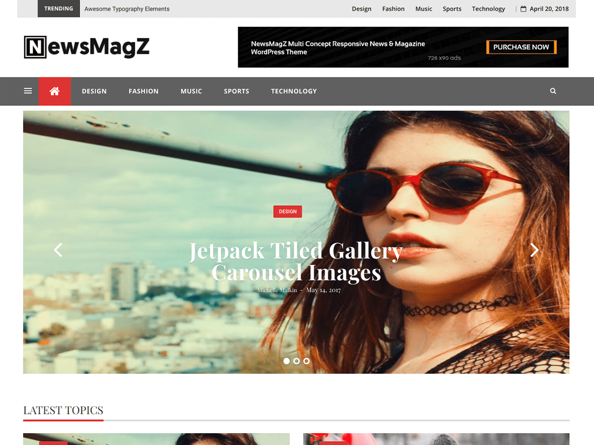 NewsMagZ Preview Wordpress Theme - Rating, Reviews, Preview, Demo & Download