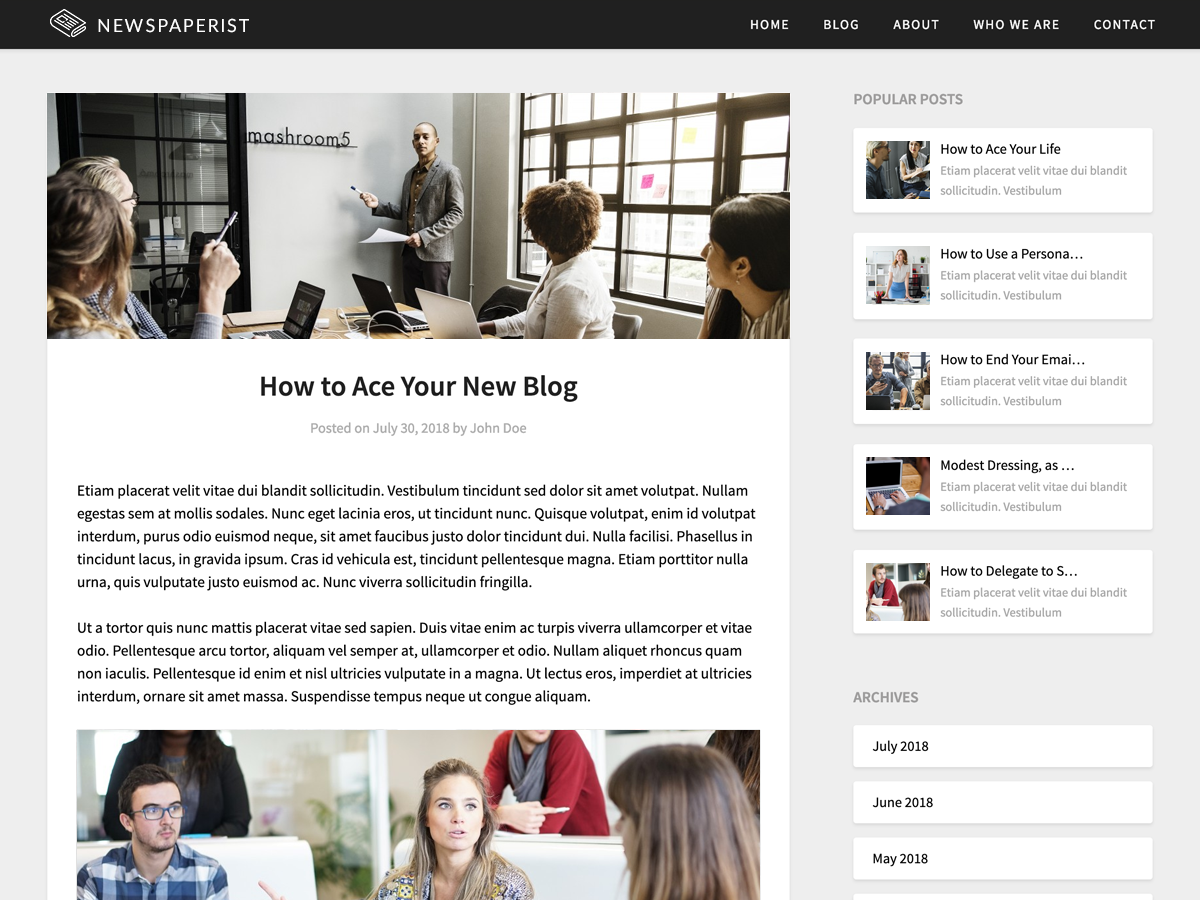 Newspaperist Preview Wordpress Theme - Rating, Reviews, Preview, Demo & Download