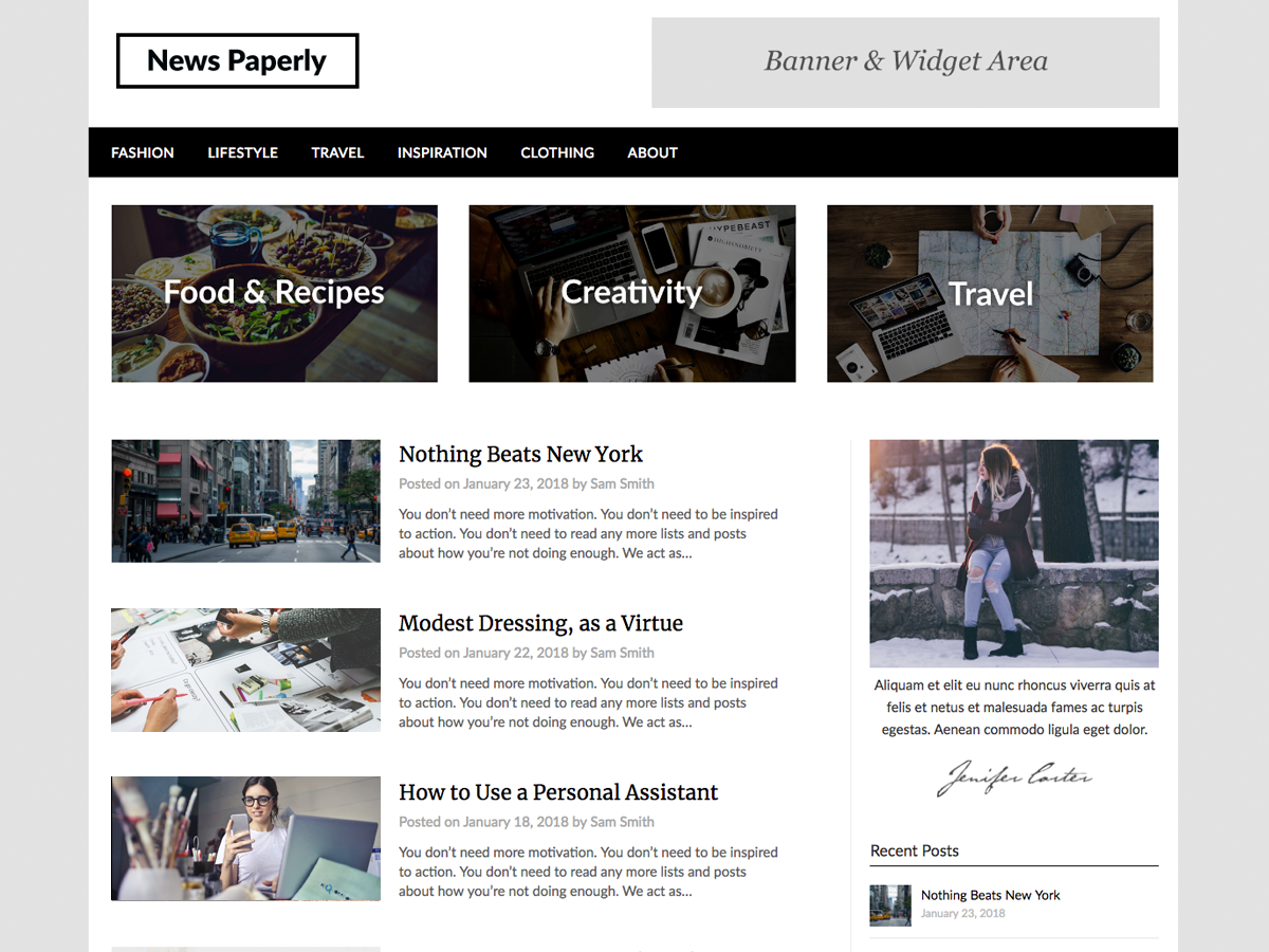Newspaperly Preview Wordpress Theme - Rating, Reviews, Preview, Demo & Download