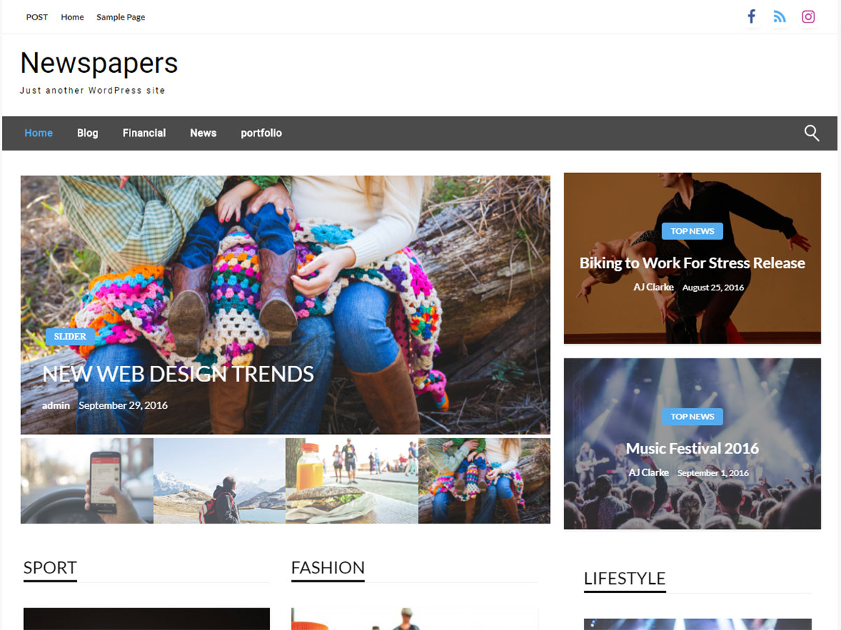 Newspapers Preview Wordpress Theme - Rating, Reviews, Preview, Demo & Download