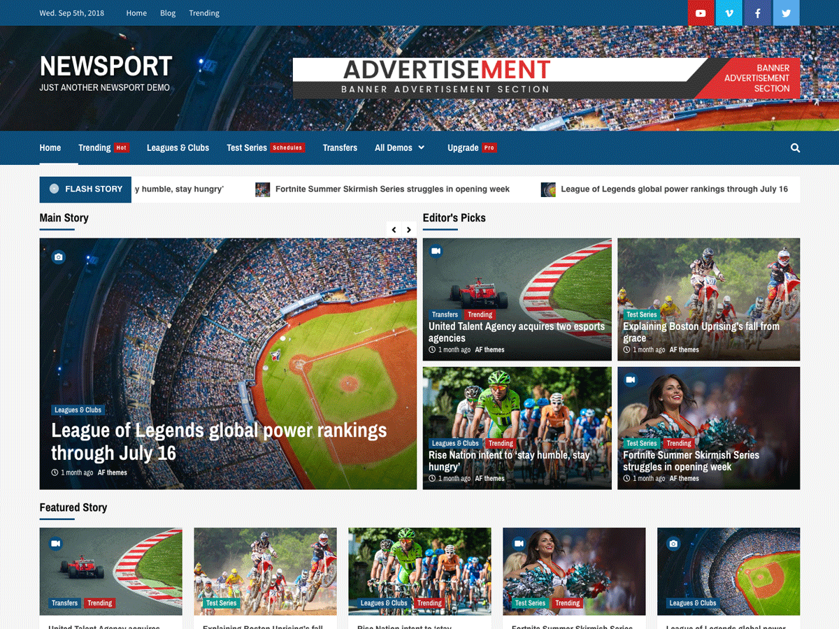 Newsport Preview Wordpress Theme - Rating, Reviews, Preview, Demo & Download
