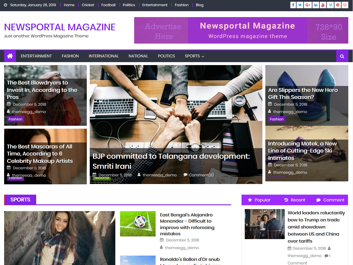 Newsportal Magazine Preview Wordpress Theme - Rating, Reviews, Preview, Demo & Download