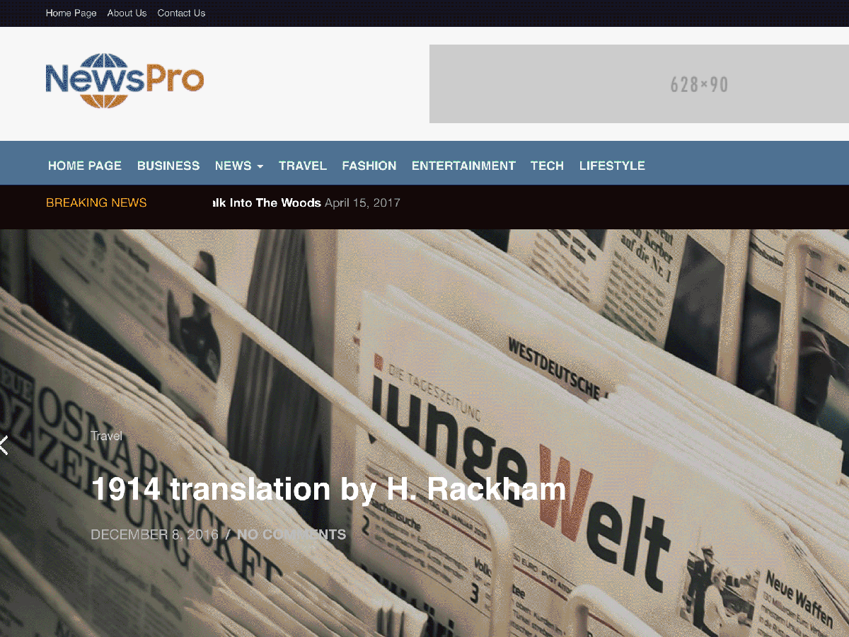 NewsPro Preview Wordpress Theme - Rating, Reviews, Preview, Demo & Download