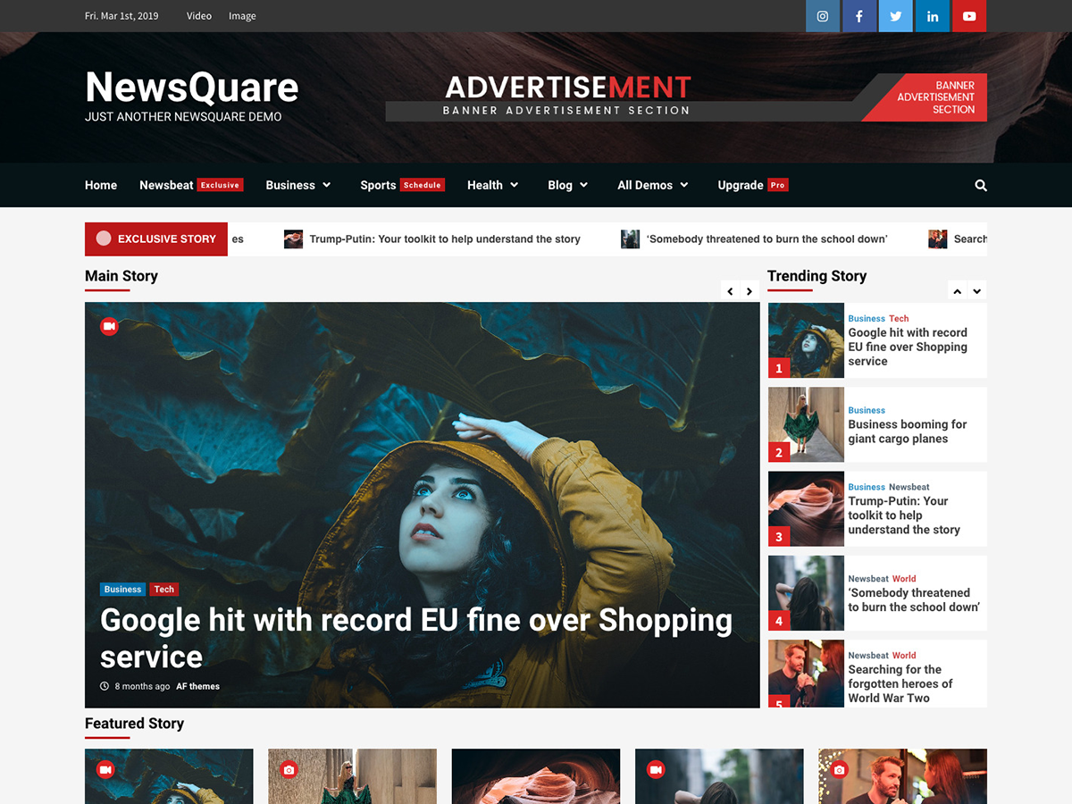 NewsQuare Preview Wordpress Theme - Rating, Reviews, Preview, Demo & Download