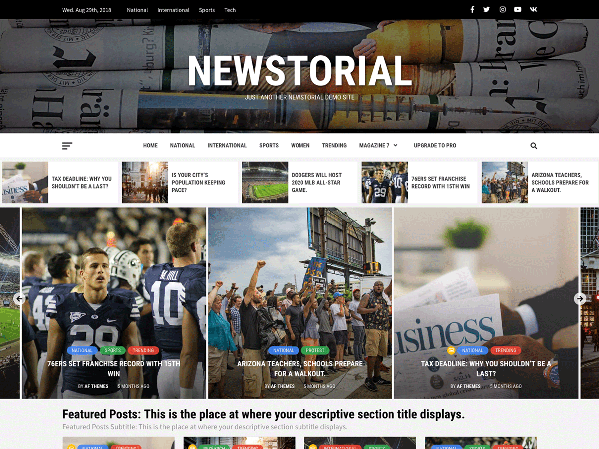 Newstorial Preview Wordpress Theme - Rating, Reviews, Preview, Demo & Download