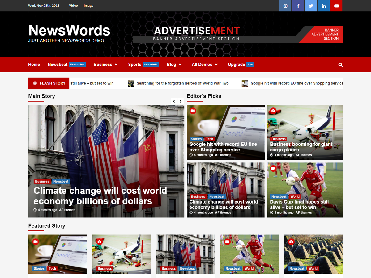 NewsWords Preview Wordpress Theme - Rating, Reviews, Preview, Demo & Download