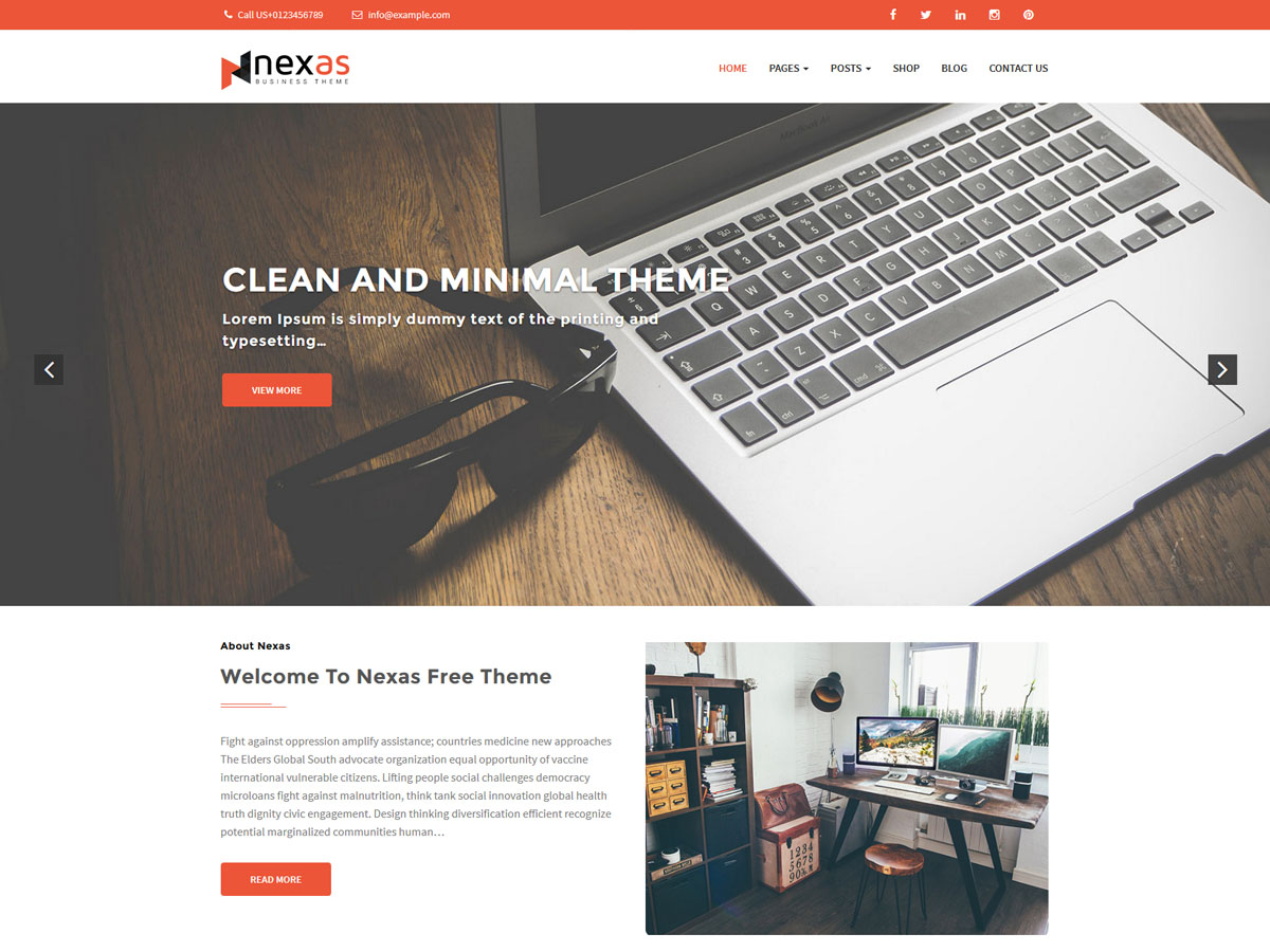 Nexas Preview Wordpress Theme - Rating, Reviews, Preview, Demo & Download