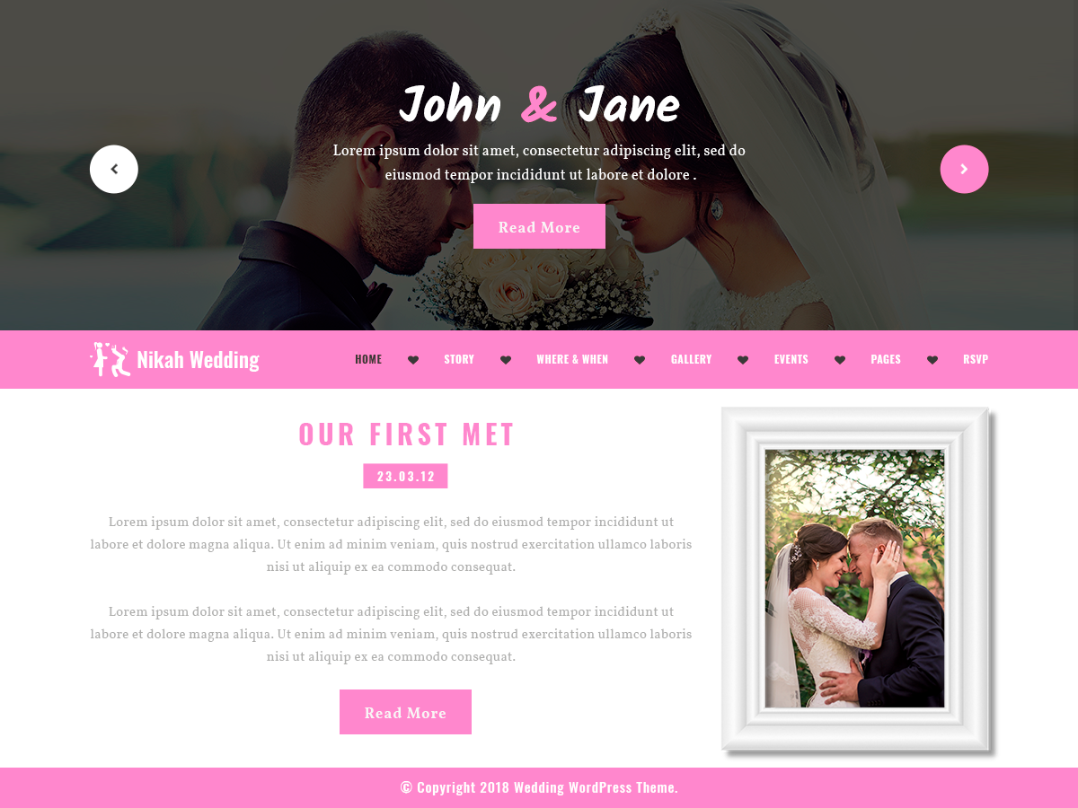 Nikah Wedding Preview Wordpress Theme - Rating, Reviews, Preview, Demo & Download