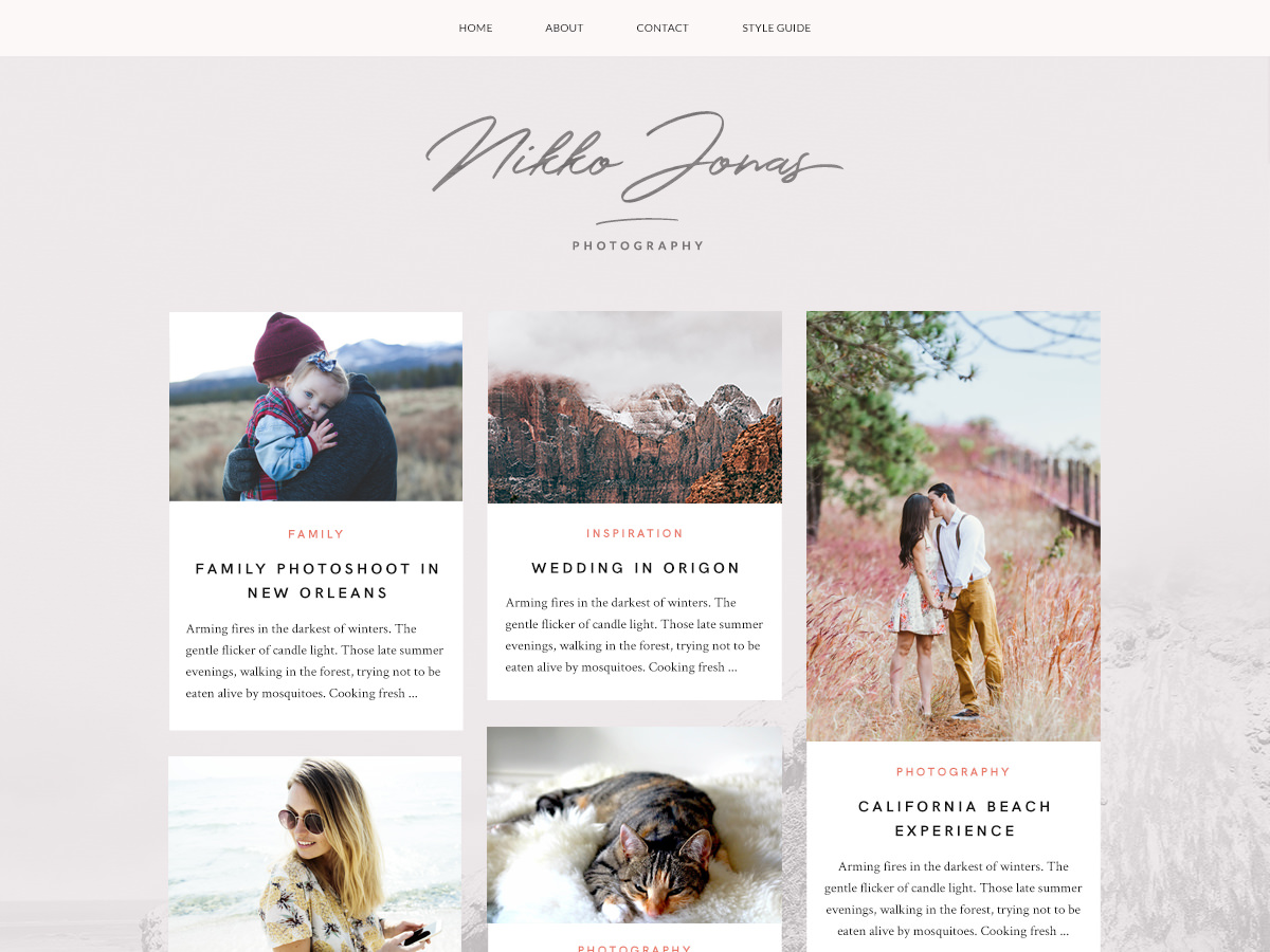 Nikko Portfolio Preview Wordpress Theme - Rating, Reviews, Preview, Demo & Download