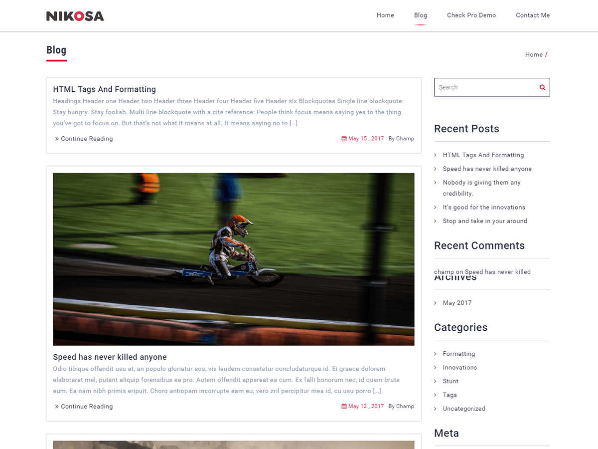 Nikosa Preview Wordpress Theme - Rating, Reviews, Preview, Demo & Download