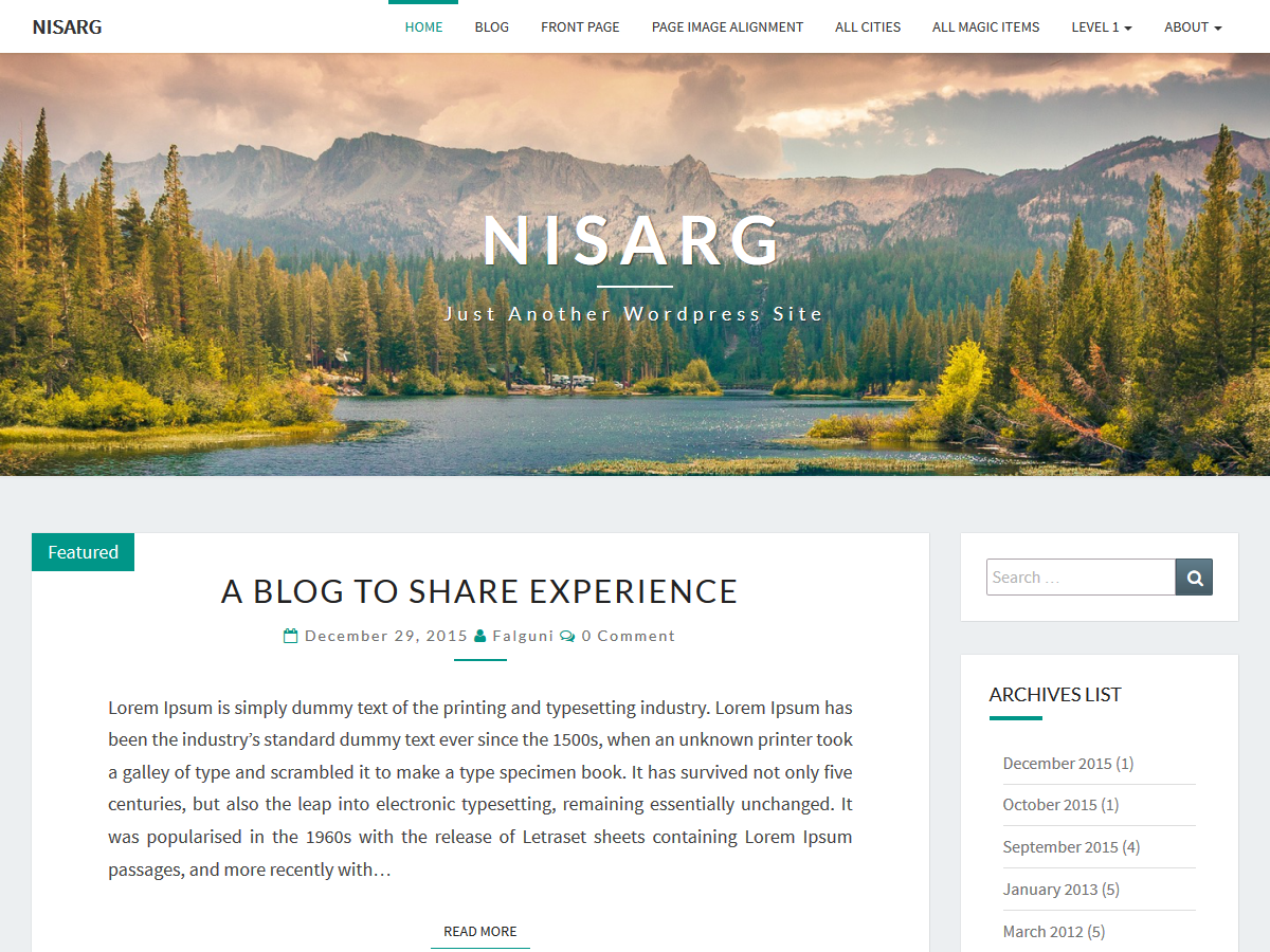 Nisarg Preview Wordpress Theme - Rating, Reviews, Preview, Demo & Download