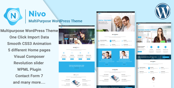 Nivo Preview Wordpress Theme - Rating, Reviews, Preview, Demo & Download