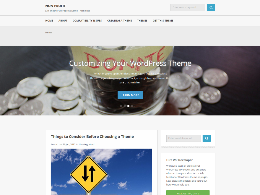Non Profit Preview Wordpress Theme - Rating, Reviews, Preview, Demo & Download