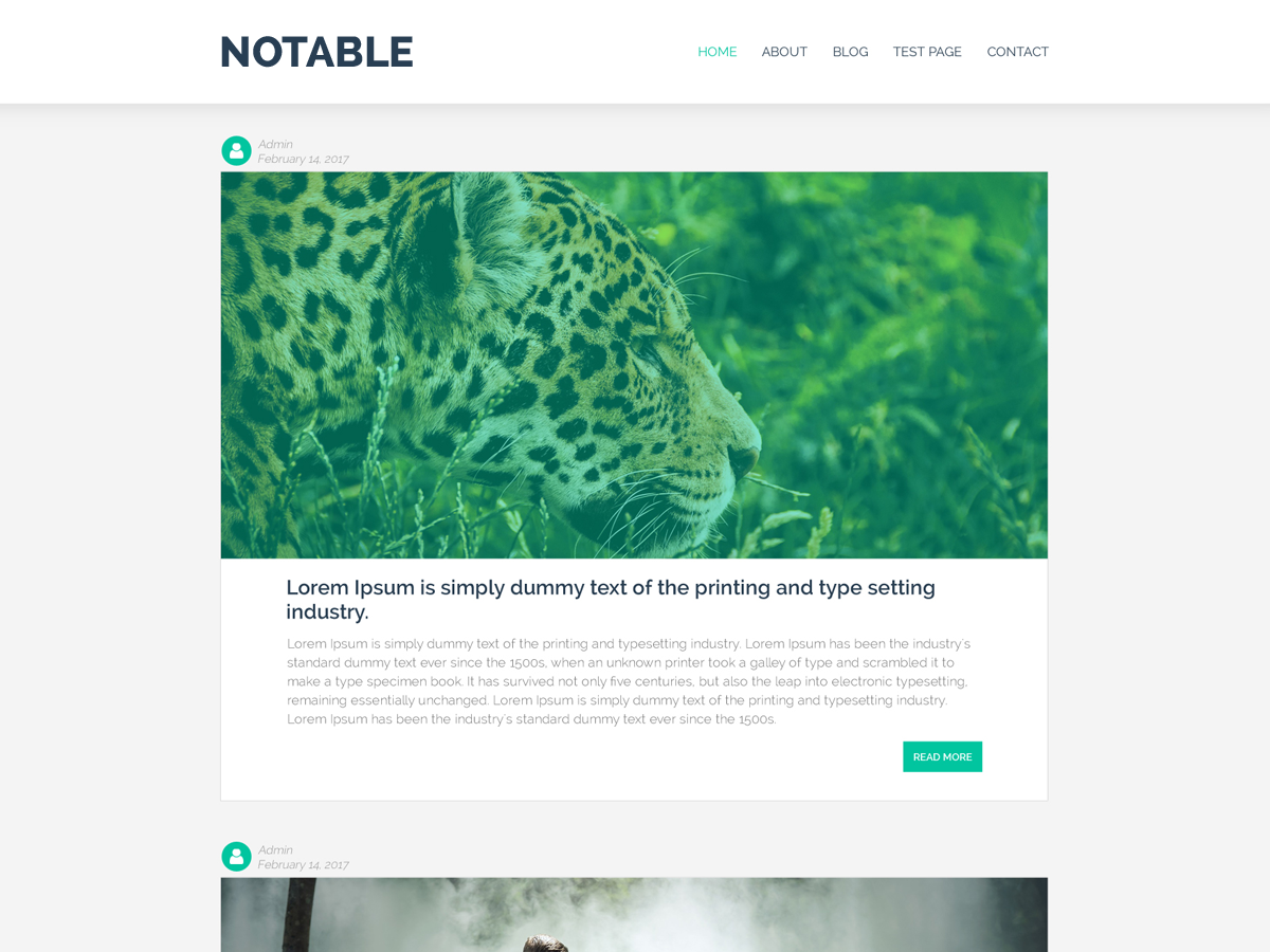 Notable Preview Wordpress Theme - Rating, Reviews, Preview, Demo & Download