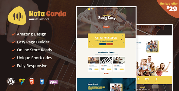 NotaCorda Preview Wordpress Theme - Rating, Reviews, Preview, Demo & Download