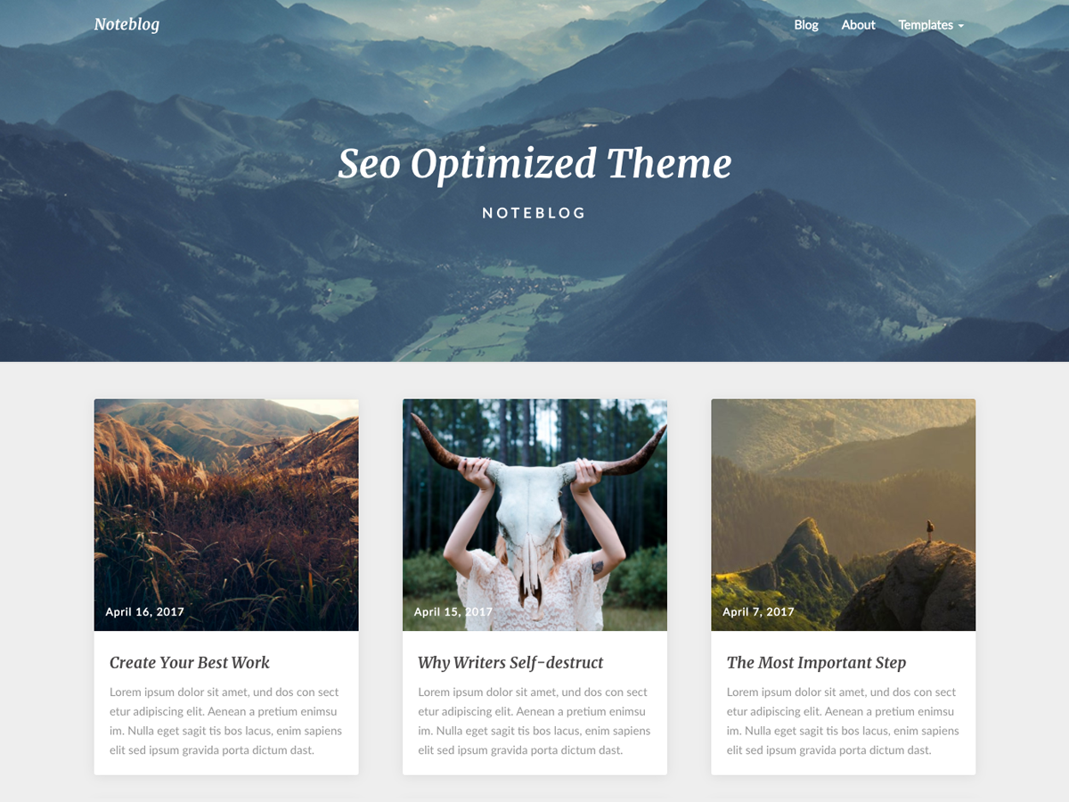 Noteblog Preview Wordpress Theme - Rating, Reviews, Preview, Demo & Download