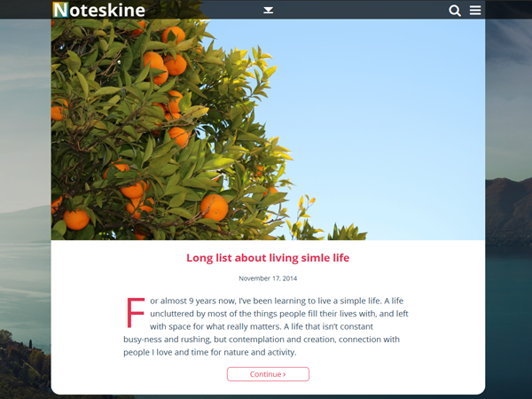Noteskine Preview Wordpress Theme - Rating, Reviews, Preview, Demo & Download