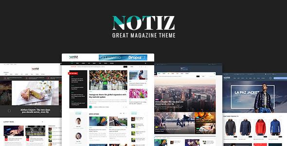 Notiz Clean Preview Wordpress Theme - Rating, Reviews, Preview, Demo & Download