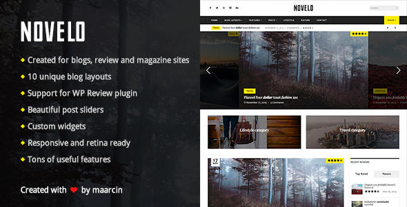 Novelo Preview Wordpress Theme - Rating, Reviews, Preview, Demo & Download