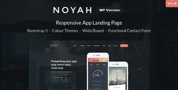 Noyah Preview Wordpress Theme - Rating, Reviews, Preview, Demo & Download