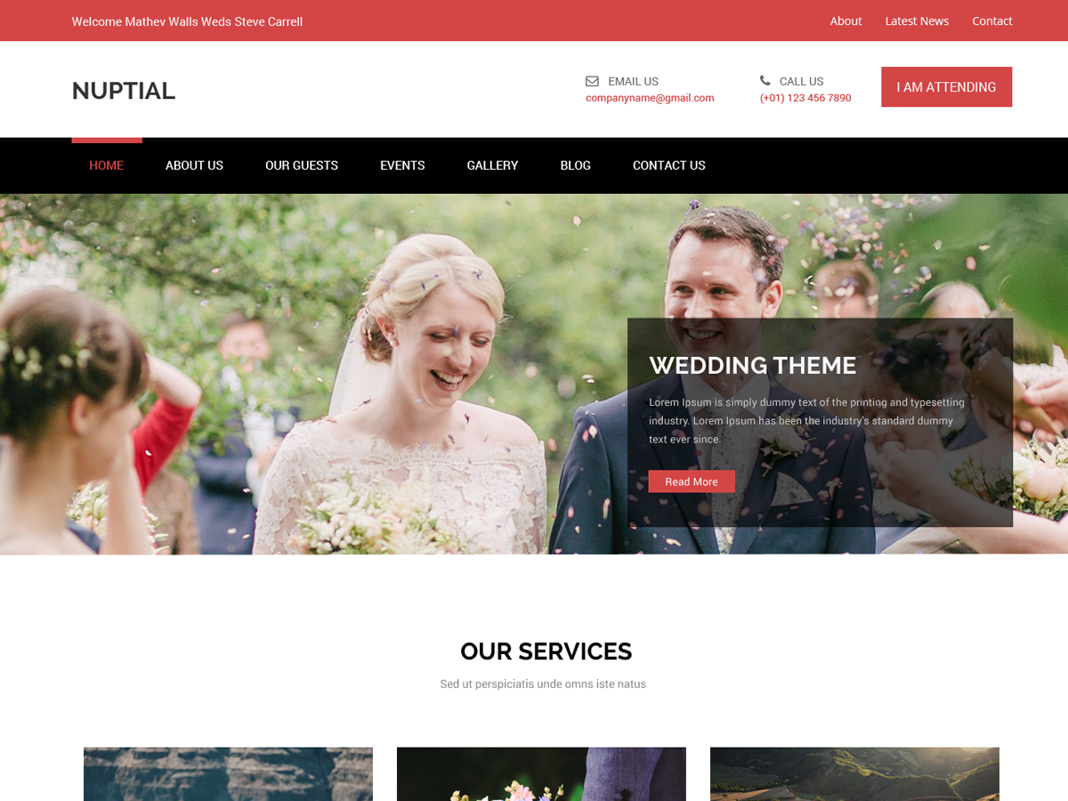 Nuptial Preview Wordpress Theme - Rating, Reviews, Preview, Demo & Download