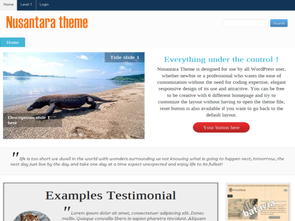 Nusantara Preview Wordpress Theme - Rating, Reviews, Preview, Demo & Download