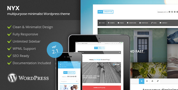 NYX Preview Wordpress Theme - Rating, Reviews, Preview, Demo & Download