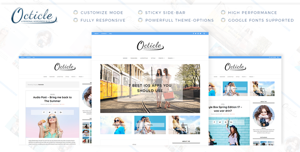 Octicle Preview Wordpress Theme - Rating, Reviews, Preview, Demo & Download