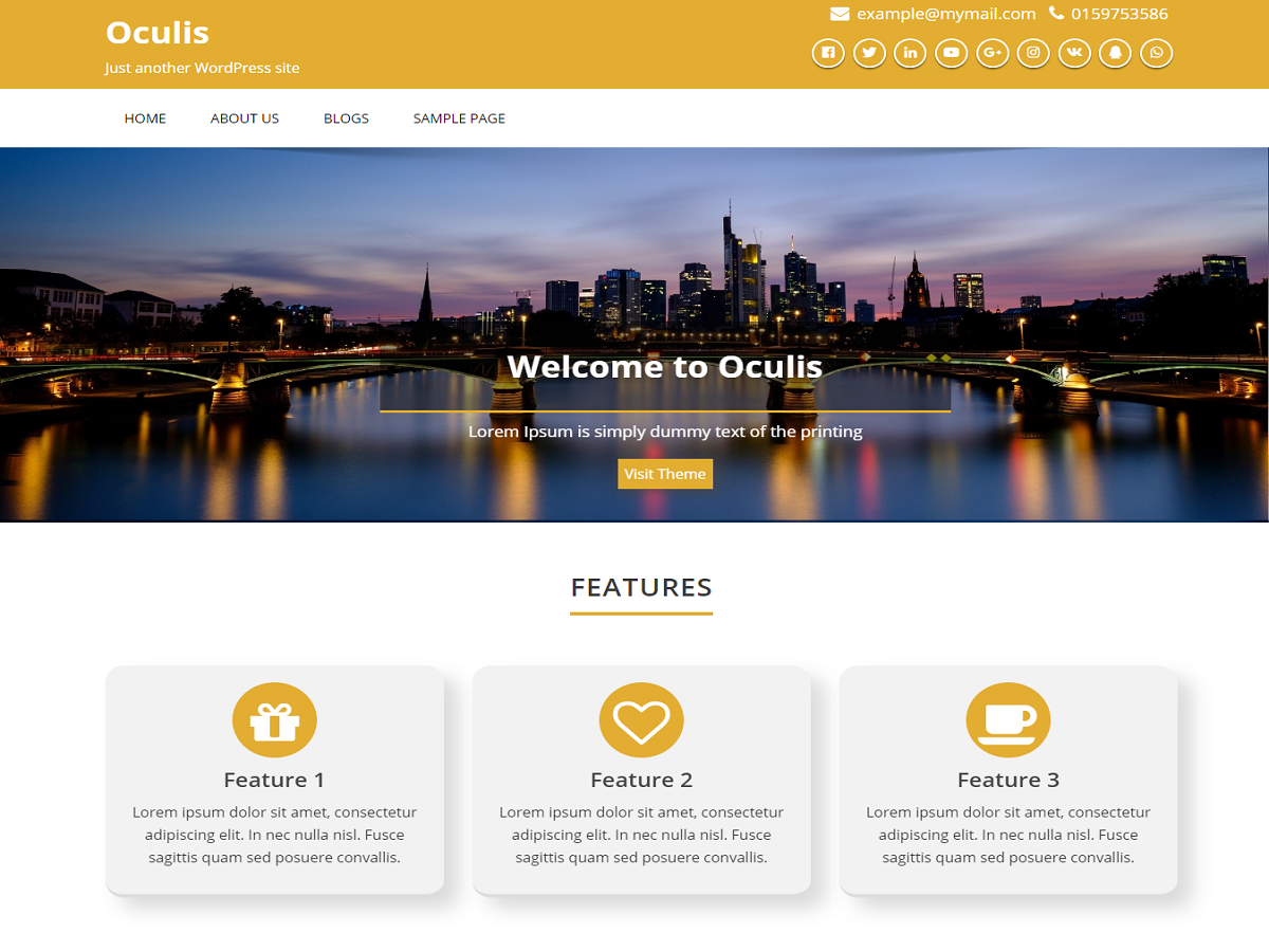 Oculis Preview Wordpress Theme - Rating, Reviews, Preview, Demo & Download
