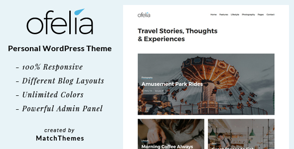 Ofelia Preview Wordpress Theme - Rating, Reviews, Preview, Demo & Download
