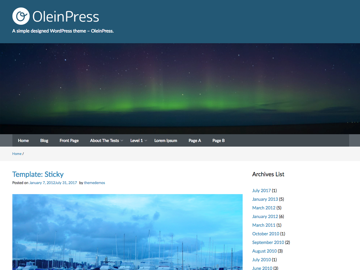OleinPress Preview Wordpress Theme - Rating, Reviews, Preview, Demo & Download