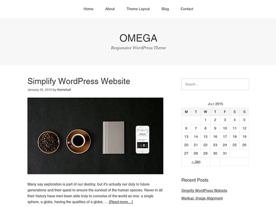 Omega Preview Wordpress Theme - Rating, Reviews, Preview, Demo & Download