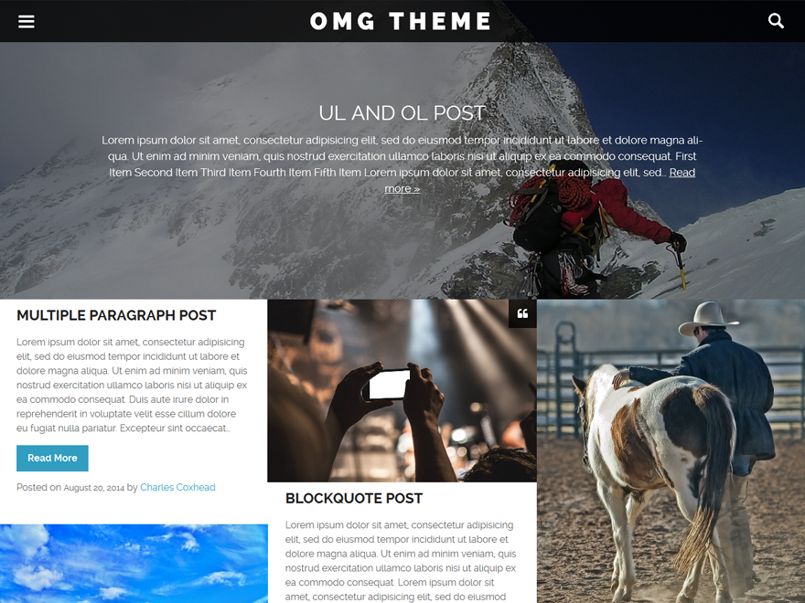 OMG Preview Wordpress Theme - Rating, Reviews, Preview, Demo & Download