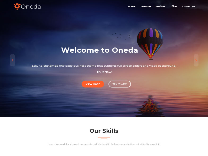 Oneda Preview Wordpress Theme - Rating, Reviews, Preview, Demo & Download