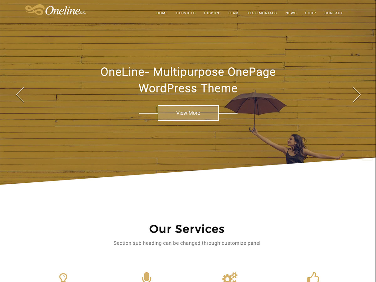 Oneline Lite Preview Wordpress Theme - Rating, Reviews, Preview, Demo & Download