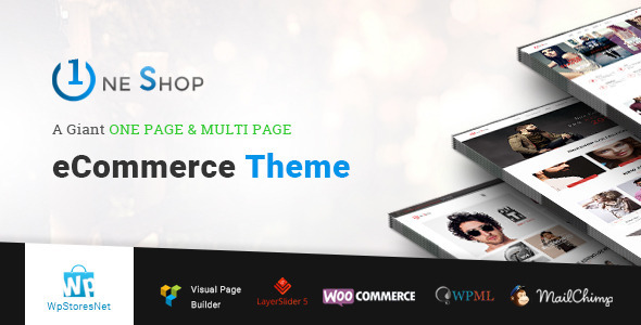 OneShop Preview Wordpress Theme - Rating, Reviews, Preview, Demo & Download