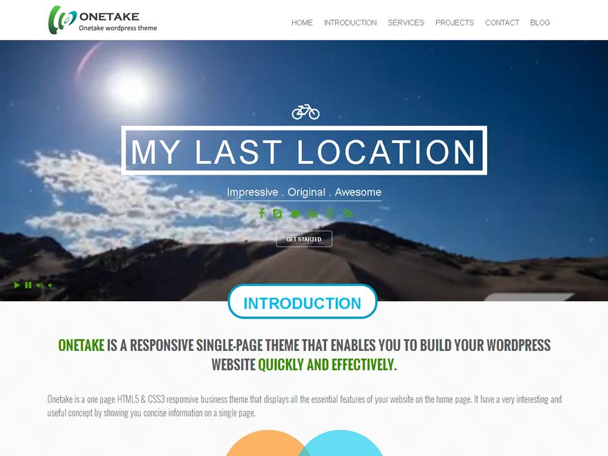 Onetake Preview Wordpress Theme - Rating, Reviews, Preview, Demo & Download