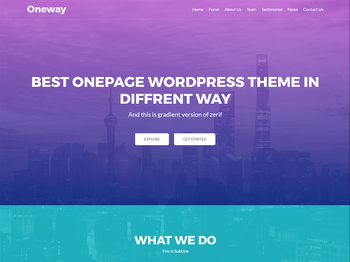 Oneway Preview Wordpress Theme - Rating, Reviews, Preview, Demo & Download