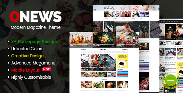 ONews Preview Wordpress Theme - Rating, Reviews, Preview, Demo & Download