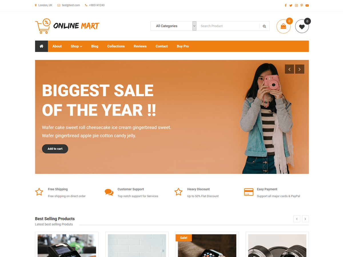 Online Mart Preview Wordpress Theme - Rating, Reviews, Preview, Demo & Download